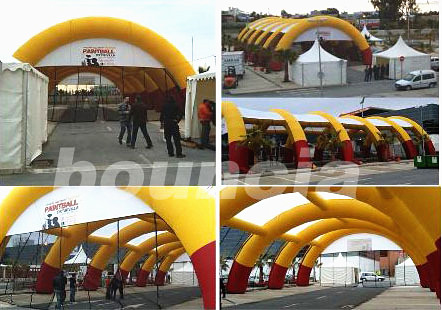 Inflatable Paintball Arena With Durable Netting For Paintball Game