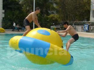 Inflatable Saturn Rocker Used In Pool For Adults