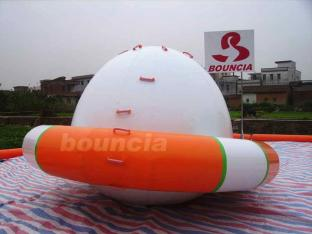 Durable Inflatable Floating Spinner /  Inflatable Saturn Rocker Used In Pool