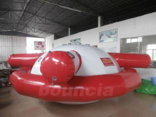 PVC Tarpaulin Inflatable Saturn Rocker For Commercial Use