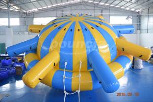 0.9mm PVC Tarpaulin Inflatable Saturn Rocker For Water Park