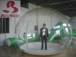0.5mm PVC Inflatable Snow Ball / Inflatable Snow Globe For Trade Show