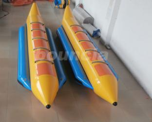 Durable PVC Tarpaulin Fabric Inflatable Banana Boat For 5 persons