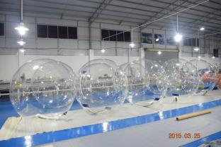 0.7mm TPU Or 0.8mm PVC Clear Inflatable Water Bubble Ball For Commercial Use