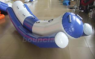 Blue and White Color Inflatable Water Teeter Totter
