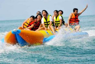 Double Tubes Inflatable Banana Boat For Commercail Use