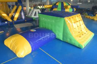 Aqua Park Inflatable Jumping Platform And Water Catapult For Sale