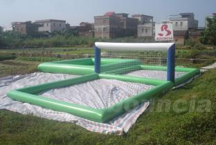 0.9mm PVC Tarpaulinb Inflatable Water Volleyball Fields For Beach Sport Games