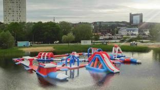 Bouncia 165 Capacity New Floating Inflatable Water Park In Tartu Estonia