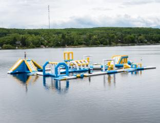 Canada 100 Capacity Inflatable Commercial Floating Water Park Games With TUV Certification