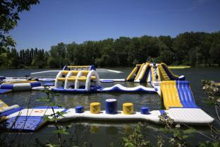 France Outdoor Inflatable Water Park Games For Adults / Inflatable Water Park Equipment Price