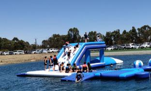 TUV Certified Inflatable Water Jumping Pillow For Sale