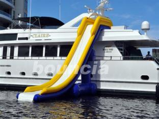 Giant Inflatable Water Slide For Yacht , Yacht Inflatable Water Slide