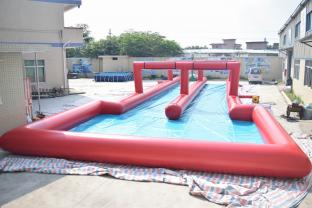 50m Inflatable Long Slide For City Road