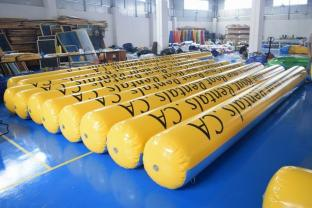 Yellow Color Commercial Grade Water Park Inflatable Pipe