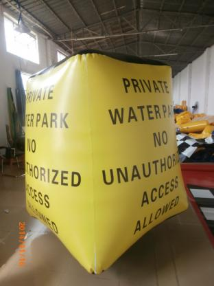 Inflatable Temple / Inflatable Buoy For Water Park