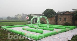Green Color Zorbing Circuit With 0.6mm PVC Tarpaulin