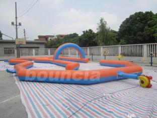 Durable 0.55mm PVC Tarpaulin Inflatable Zorb Ball Track