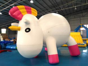 Bouncia New Standing Inflatable Unicorn Cartoon For Swimming Pool